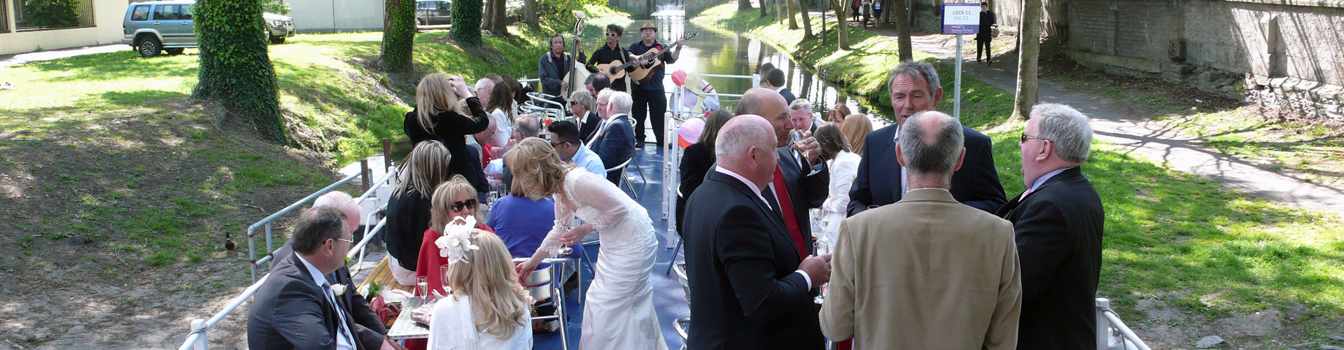 Wedding on canal boat